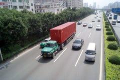 107条高速公路国民深圳 免版税库存照片