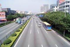 107条高速公路国民深圳 库存照片