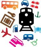 107c图标被设置的运输 免版税库存照片