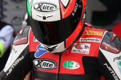 1098r baiocco barni赛跑小组的ducati matteo 库存图片