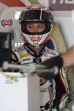 1098r ducati洛伦佐pata赛跑的小组zanetti 图库摄影