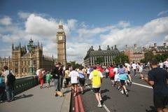10k τρέξιμο του Λονδίνου το& Στοκ εικόνα με δικαίωμα ελεύθερης χρήσης
