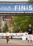 10km ottawa race Arkivbilder