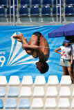 10m Platform Diving at the FINA World Championship. Roma 2009 Stock Photos