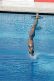 10m Platform Diving at the FINA World Championship Royalty Free Stock Photo
