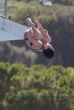 10m som dyker kvinnor för finaler rome09 Royaltyfria Foton