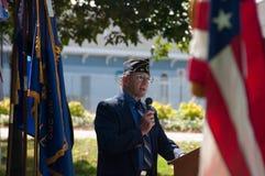 10mo Ceremonia del monumento del 11 de septiembre del aniversario Fotos de archivo libres de regalías
