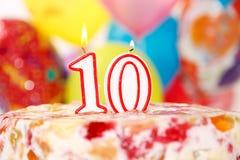 10mo Torta Fotos de archivo libres de regalías