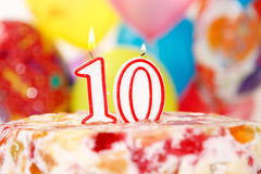 10th Cake Royalty Free Stock Photos