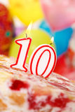 10th Cake Stock Photo