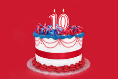 10th cake Arkivfoto