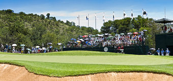 10th Hole - Panoramic View of the Green Stock Photos