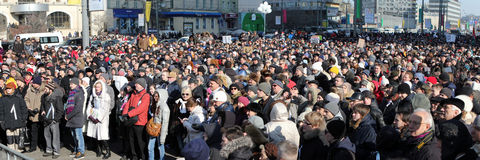 10th March 2012. Opposition meeting in Moscow Stock Photos