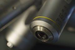 10x lens voor microscoop Stock Fotografie