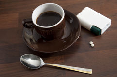 11个咖啡杯 库存图片