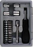 11个工具箱微型工具 库存照片