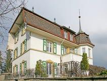 11个房子好瑞士 库存照片