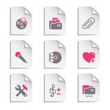 11个文件灰色集 免版税库存图片