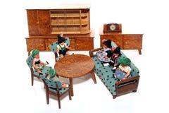 11个玩偶会议 图库摄影