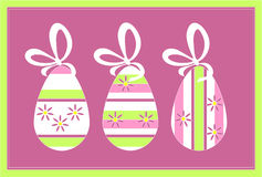11个颜色蛋礼品节假日 库存照片