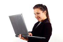 11企业膝上型计算机妇女 库存照片
