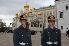 11卫兵克里姆林宫莫斯科 库存照片