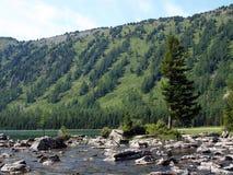 11块平均底部湖mult石头 库存照片