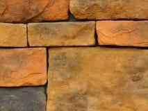 11块砖模式石墙 库存照片