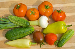 11新鲜蔬菜 免版税库存图片