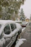 11月, fisrt雪在巴伐利亚 免版税库存照片