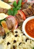 11牛肉kebabs 免版税图库摄影