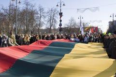 11独立立陶宛行军维尔纽斯 免版税库存图片
