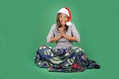 11美丽的辅助工s圣诞老人 库存图片