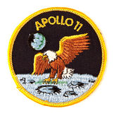 11阿波罗徽章任务航天服 免版税库存照片