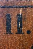11 βρώμικος αριθμός Στοκ Φωτογραφίες