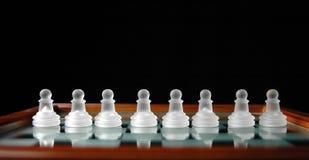 11 κομμάτια σκακιού Στοκ Εικόνες