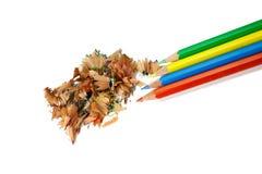 11 μολύβια χρώματος Στοκ Εικόνες