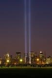 11 город светлый мемориальный новый york -го сентябрь Стоковое фото RF