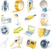 11 предмет икон разделяют установленный вектор Стоковая Фотография RF