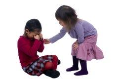 11 рука помогая сестрам серии Стоковые Фото