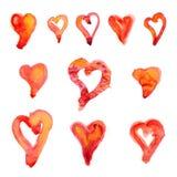 11 сердец Стоковое Изображение