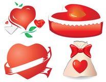 11 сердце разделяют Валентайн s иллюстрация вектора
