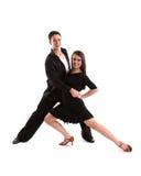 11 танцор бального зала черный Стоковая Фотография