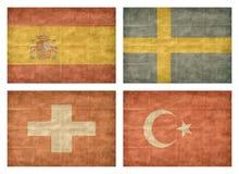 11/13 Markierungsfahnen der europäischen Länder Stockbilder