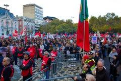 11 20 2010 ενάντια στις διαμαρτυρ Στοκ Εικόνες