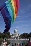 11 2009 homoseksualnych marszów Październik wyprostowywają Washington Zdjęcie Royalty Free