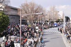 11 2011年地震行军 库存照片