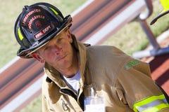 11 2011 klättrar den minnes- sep för brandmannen trappan Arkivfoto