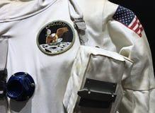 Официальный костюм пилота Аполлона 11 астронавта Стоковое Фото