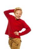 11 anno felici del ragazzo Fotografie Stock